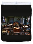One Room School House Duvet Cover by Bob Christopher