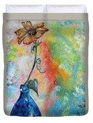 One Solitary Flower Duvet Cover