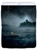 One Stormy Night In Maine Duvet Cover by Edward Fielding