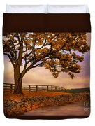 One Tree Hill Duvet Cover by Lois Bryan