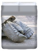 One Very Old Very Large Sulcata Tortoise Duvet Cover