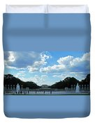 One View Two Memorials Duvet Cover
