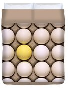 One Yellow Egg With White Eggs Duvet Cover