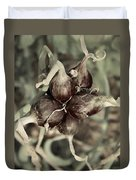 Onion Seed Heads Duvet Cover
