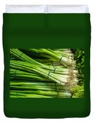 Onion With Chives Duvet Cover