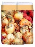 Onions Closeup Duvet Cover