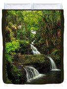 Onomea Falls Duvet Cover