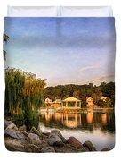Onondaga Park Hiawatha Lake Duvet Cover
