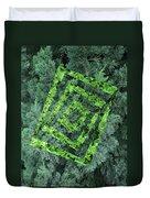 Op Art Garden 2 Duvet Cover