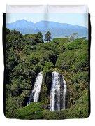 Opaekaa Falls In Kauai Duvet Cover