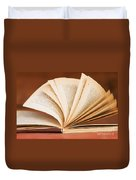 Open Book In Retro Style Duvet Cover