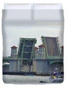 Open Bridge Of Lions Duvet Cover