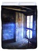 Open Cabin Door With Orbs Duvet Cover