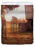 Open Gate By Cottage Duvet Cover