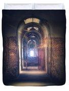 Open Gate To Prison Hallway Duvet Cover