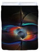 Open Minded-abstract Art Duvet Cover
