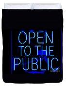 Open To The Public Duvet Cover