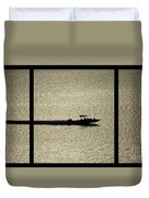 Open Waters Triptych Duvet Cover