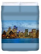 Opera House And Buildings Lit Duvet Cover