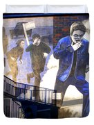 Derry Mural Operation Motorman  Duvet Cover