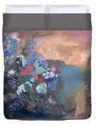 Ophelia Among The Flowers Duvet Cover by Odilon Redon