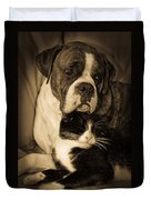 Opposites Attract Duvet Cover by DigiArt Diaries by Vicky B Fuller