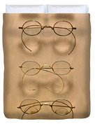 Optometrist - Simple Gold Frames Duvet Cover by Mike Savad