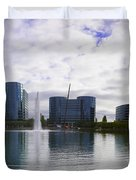 Oracle Buildings In Redwood City Ca Duvet Cover