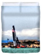 Oracle Team Usa And Alcatraz Duvet Cover