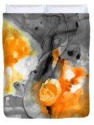 Orange Abstract Art - Iced Tangerine - By Sharon Cummings Duvet Cover