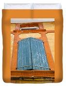 Orange And Blue Duvet Cover