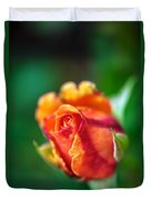 Orange And Fuschia Rosebud Duvet Cover