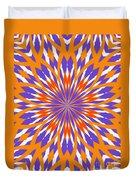 Orange And Purple Kaleidoscope Duvet Cover