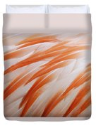 Orange And White Feathers Of A Flamingo Duvet Cover