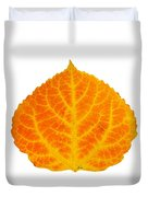 Orange And Yellow Aspen Leaf 3 Duvet Cover