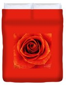 Orange Apricot Rose Macro With Oil Painting Effect Duvet Cover