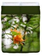 Orange Azalea Delight Duvet Cover