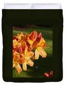Orange Azaleas Duvet Cover