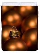 Orange Baubles Duvet Cover by Anne Gilbert