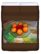 Orange Beauty Duvet Cover