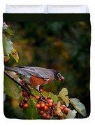 Robin's Orange Buffet Duvet Cover
