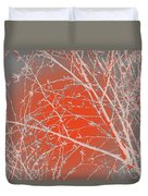 Orange Branches Duvet Cover