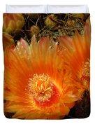 Orange Cactus Duvet Cover