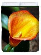 Orange Calla Lilly Flower In The Garden Duvet Cover
