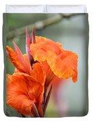 Orange Cana Duvet Cover