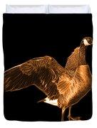 Orange Canada Goose Pop Art - 7585 - Bb  Duvet Cover