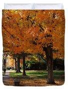 Orange Canopy - Davidson College Duvet Cover