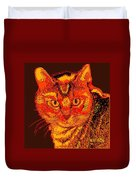 Orange Cat Duvet Cover