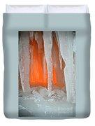 Orange Cave Duvet Cover