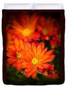 Orange Chrysanthemum Duvet Cover